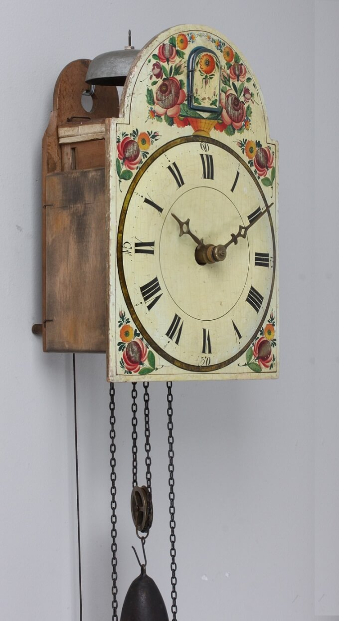 German Black Forest Cuckoo Wall Clock 1830