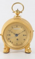 Austrian Gilt Pendule Officier Sonnerie Happacher 1830