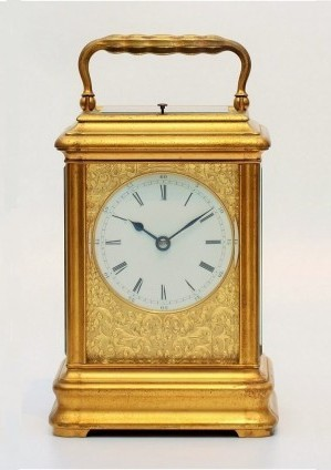 A French Gilt Brass 'Giant' Carriage Clock, Drocourt, Circa 1870