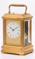 French Gilt Gorge Giant Carriage Clock Drocourt 1870