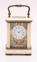 French Miniature Ivory Corniche Carriage Clock 1870