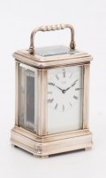 Swiss Silver Miniature Carriage Clock Gübelin 1890