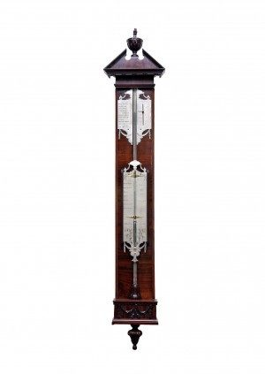 A Dutch Mahogany Stick Barometer By P. Wast Circa 1770