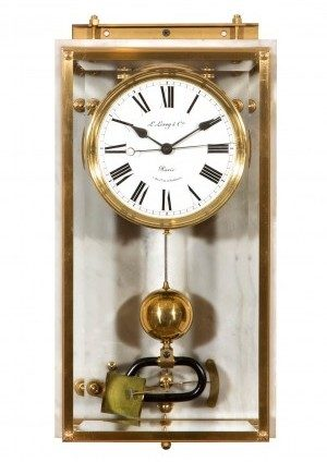 A French Electric Brillié Wall Timepiece, Circa 1910