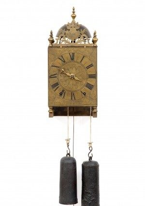 A Rare Morbier Lantern Wall Clock, Claude Reynaud, Circa 1730