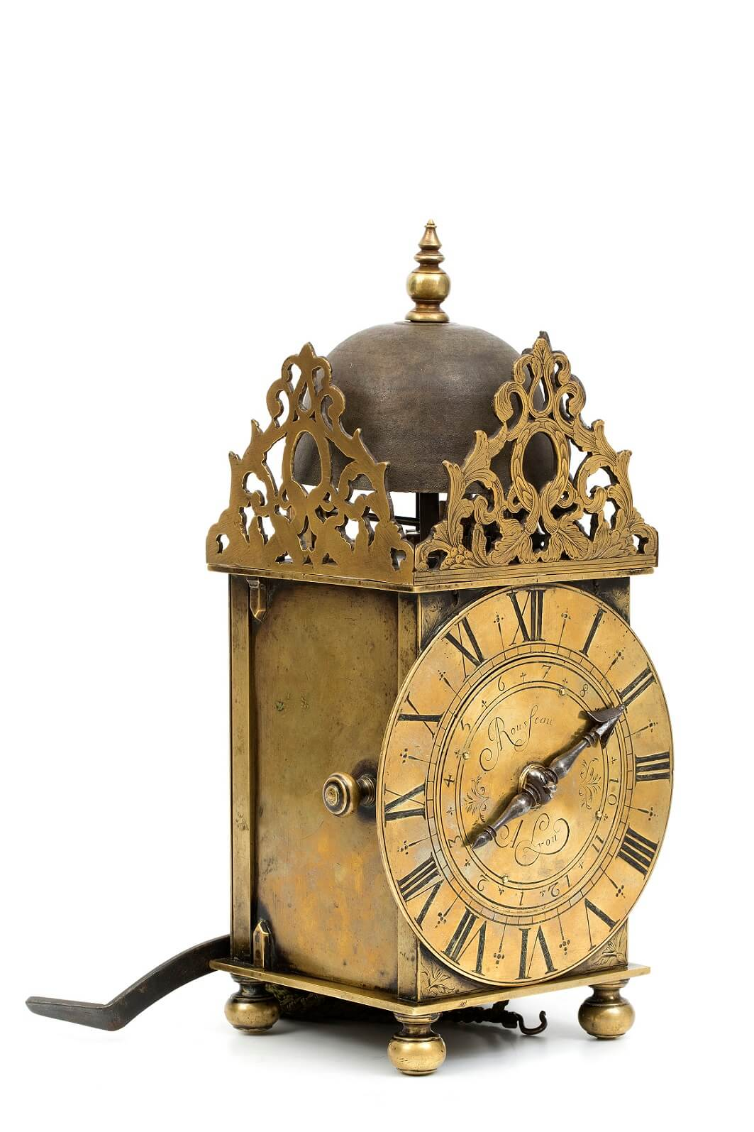 French Louis XIV brass lantern alarm Rousseau 1665