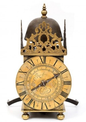 An Early French Lantern Timepiece, Rousseau A Lyon, Circa 1665