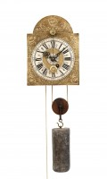 Swiss Brass Iron Zappler Wall Clock Alarm 1720