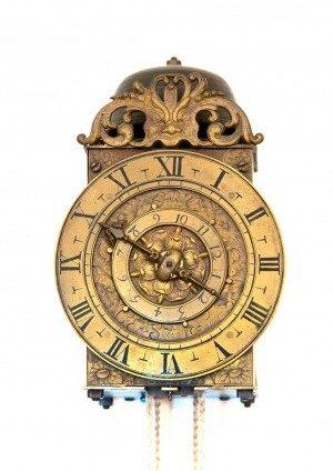 A French Balance Lantern Clock , C.F. Suedois Angers, Circa 1650