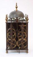 French Morbier Lantern Brass Wall Clock Reymond 1740