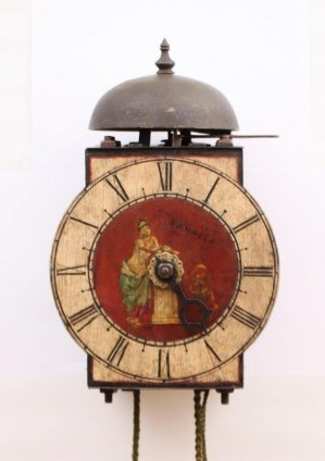 An Italian Polychrome Iron Wall Clock, Circa 1700