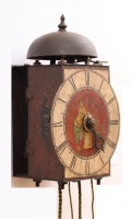 Italian Polychrome Iron Wall Clock Panacea 1700