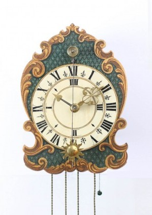 A Swiss Repeating Zappler Wall Clock, Circa 1760.