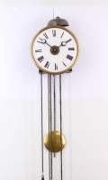 French Morbier Haute Saone Alarm Iron Wall Timepiece 1820