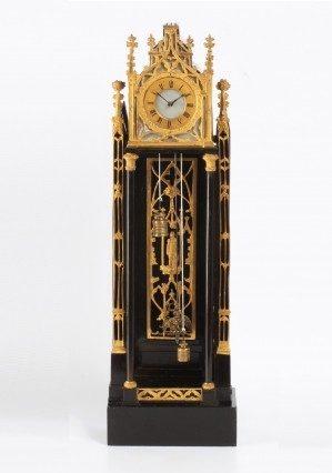 A Miniature Austrian Neo Gothic Wall Timepiece, Circa 1840