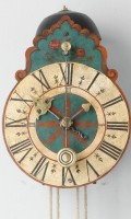 German Polychrome Iron Zappler Wall Clock 1740