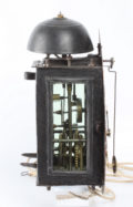 German Polychrome Iron Zappler Wall Clock 1740