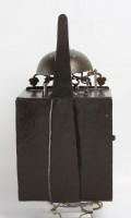 French Morbier Iron Brass Wall Clock Brocard 1740
