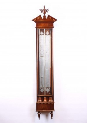 Een Hollandse Mahonie Contra-bakbarometer J. Stopanni, Circa 1800