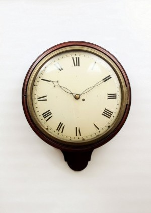 English Mahogany Pub Convex Dial Clock 1820