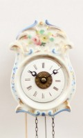 German Black Forest Jockele Porcelain Alarm 1850