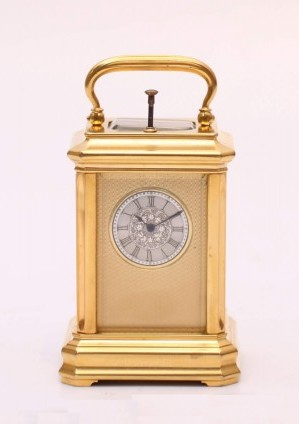 A Miniature Swiss Carriage Timepiece With Repetition, Circa 1860