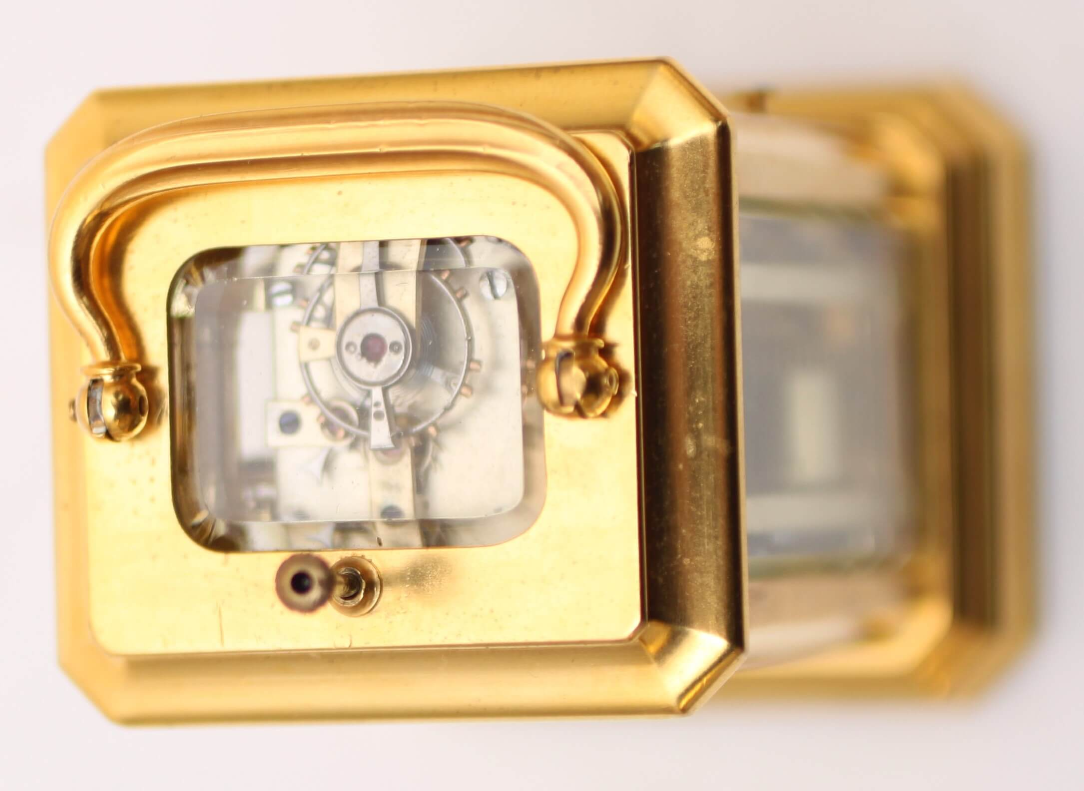 Swiss gilt carriage miniature repeater 1870