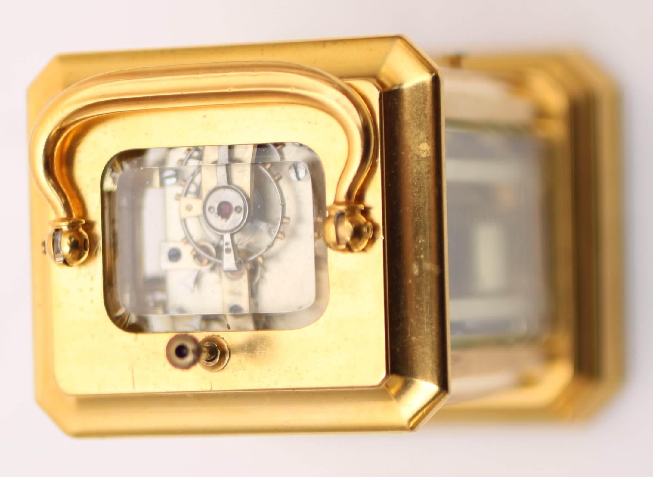 Swiss Gilt Carriage Miniature Repeater 1870