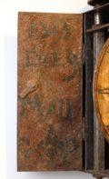Italian Polychrome Iron Wall Clock Panacea 1700