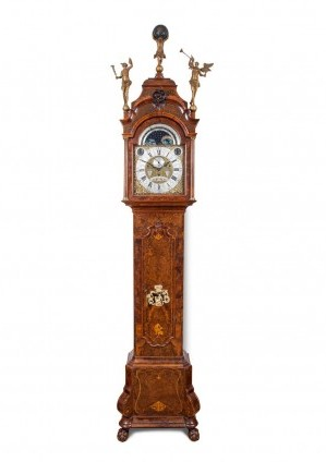 Dutch Amsterdam longcase musical striking burr walnut 1750