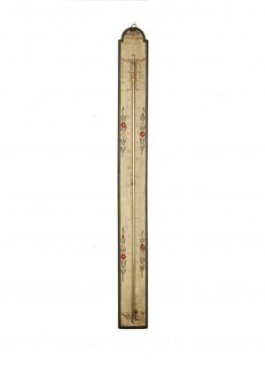 Een Franse Polychroom Beschilderde Barometer, Circa 1800