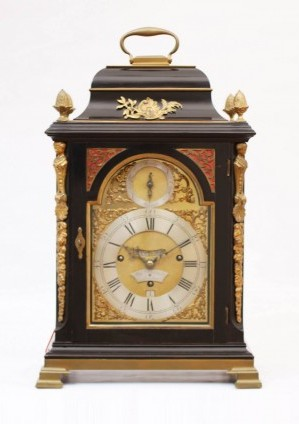 An English Ebonized Quarter Striking Table Clock, Stephen Rimbault, Circa 1750