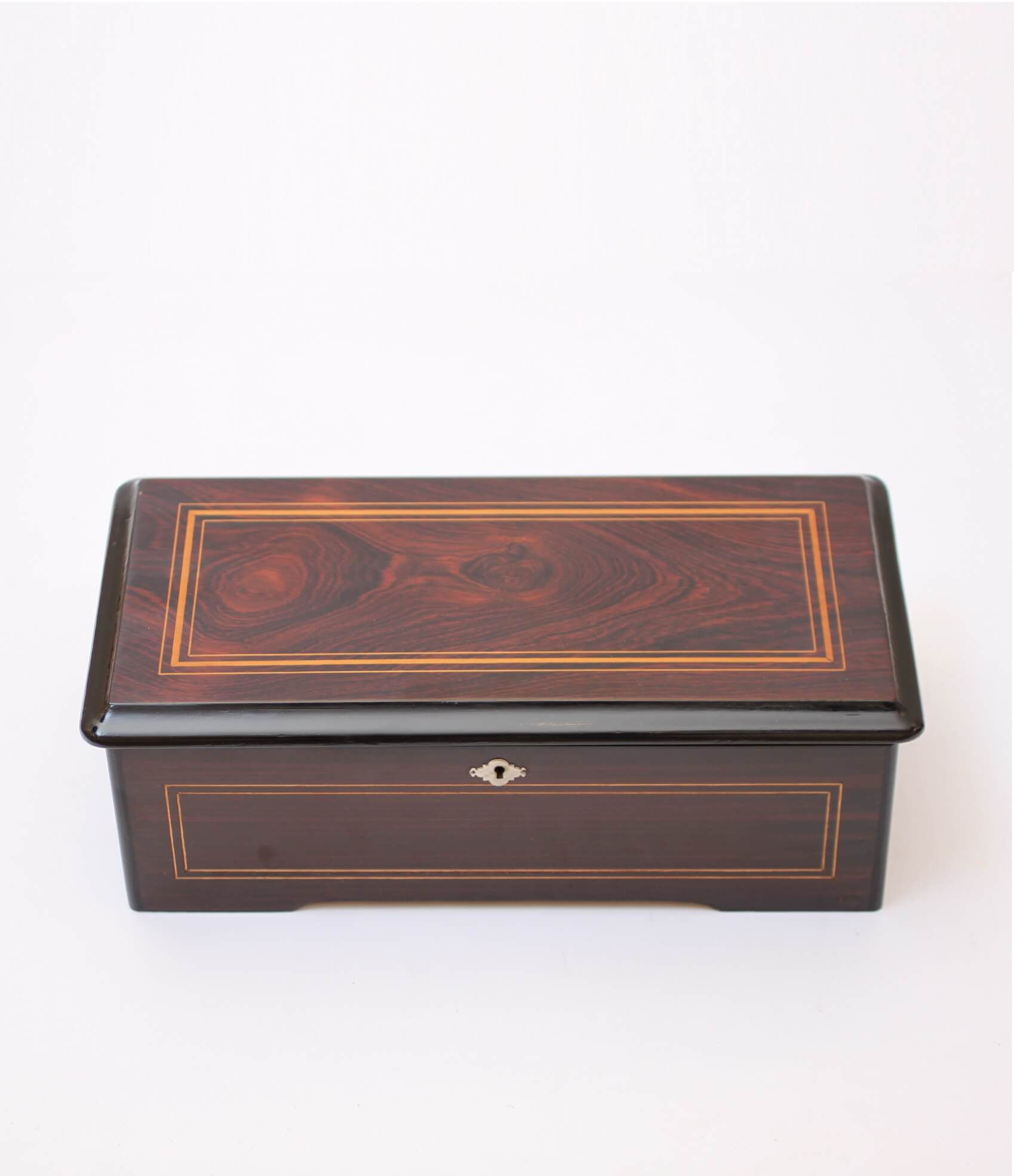 Swiss Cylinder Music Box Mermod Fréres Rosewood 1885
