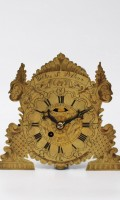 Austrian Engraved Brass Zappler Wall Clock Weber St Pölten 1780