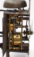 Austrian Engraved Brass Zappler Wall Clock Weber St Pölten 1780