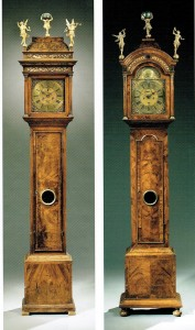 J 2 Clarke & Dunster 1715-20 en klok circa 1700