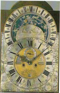 S 1750 Bramer & Zoon astronomisch wijzerplaatklein