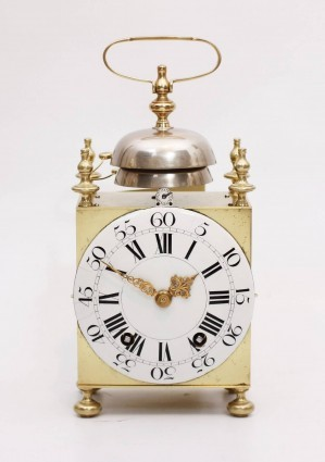 An Early And Large French Brass Capucine Travel Clock By Bechet A Lyon, Circa 1770