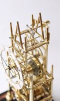 English Brass Skeleton Clock Thelwell 1840
