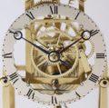 English Brass Skeleton Clock Thelwell 1840