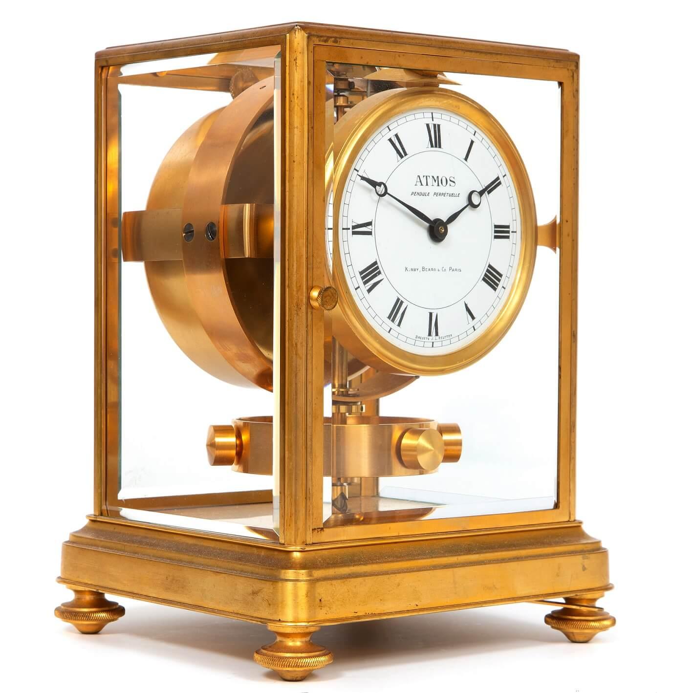 French-Swiss-art-deco-gilt-brass-jean-leon-reutter-atmos-perpetual-antique-clock-