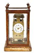 French Striking Miniature Brass Table Lantern Clock Circa 1790