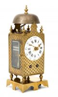 French Striking Miniature Brass Table Lantern Clock Circa 1790