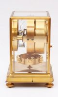 French Gilt Brass Atmos Clock Reutter Circa 1930