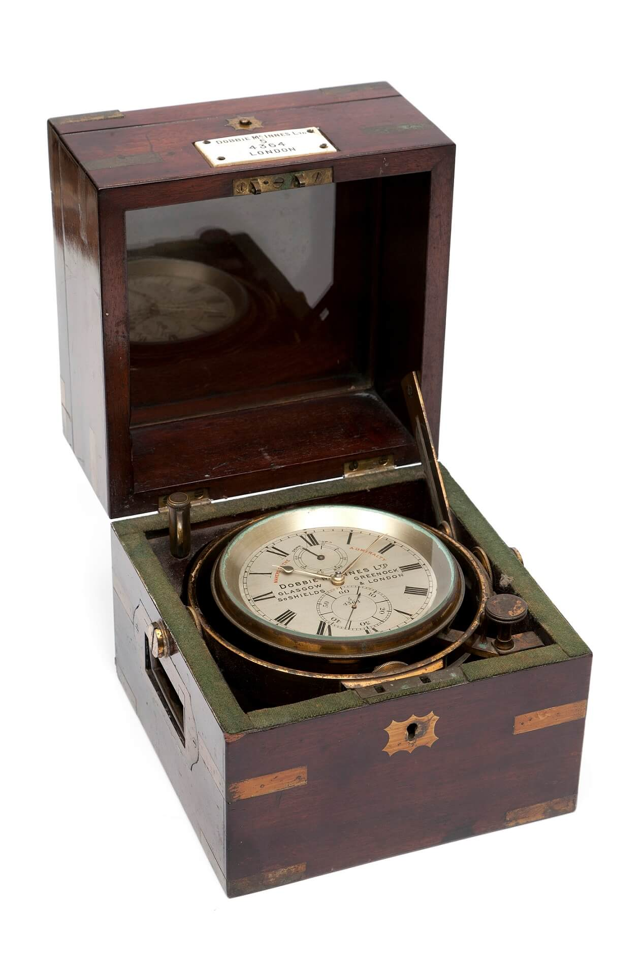 English British chronometer mahogany Dobbie McInnes circa 1880