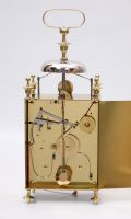 French Brass Capucine Striking Repeating Alarm Travel 1825