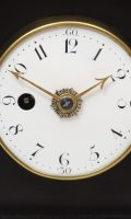 English Table Clock Silent Escapement Holliwell Circa 1800