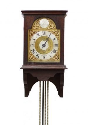 A Small English Oak Hood Clock By Marsh Eastry, Circa 1750