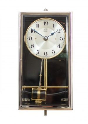 A French Nickel Plated Electrical Timepiece, Bulle-Clock, Circa 1910