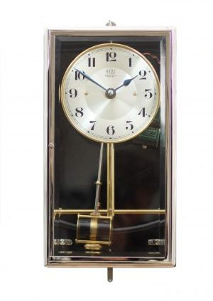 French Electric Antique Clock Bulle Clock Nickel Art Deco